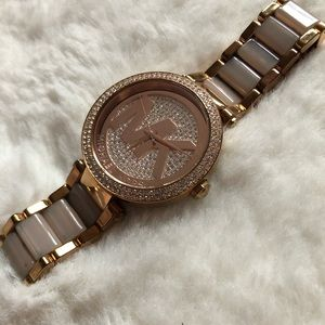 Michael kors 6176 Parker rose gold crystal watch